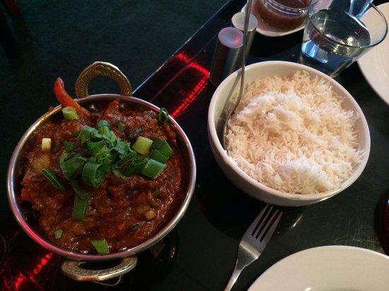 Zaika Indian Bistro & Bar: Lamb jalfrezi - it was not as hot as I wanted but incredibly tasty.