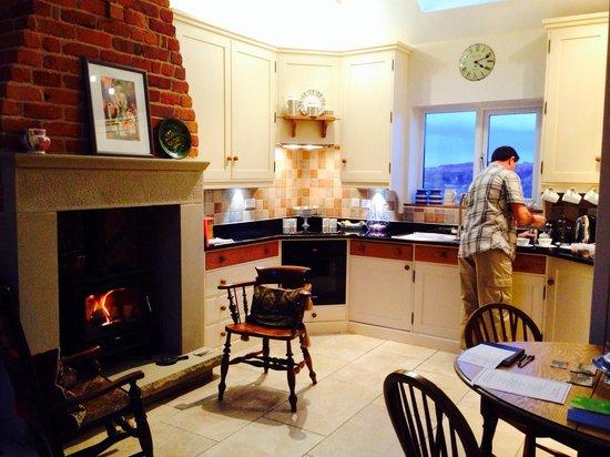 Meadowcroft Barn: The kitchen area