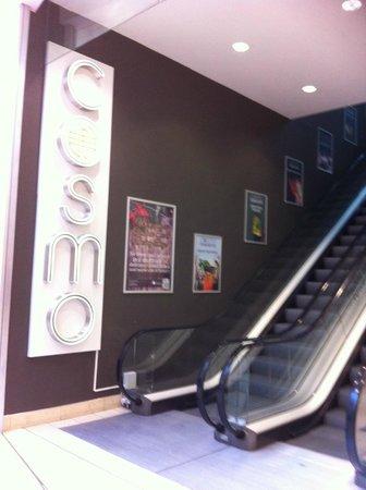 COSMO: Escalator to Restaurant on second floor