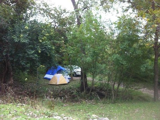 Landa RV & Campground: Site # T7 Very secluded and great for tents, no water, no electriciy.