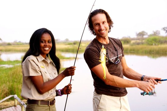 Wilderness Safaris Savuti Camp: Violet and the big catch
