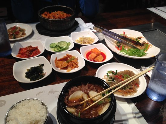 New Wonjo Restaurant: so much food!