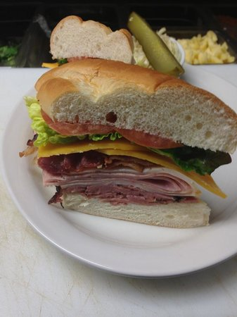 Dunn's Famous Bank Street Deli: Dagwood Sandwich, served with fries and coleslaw