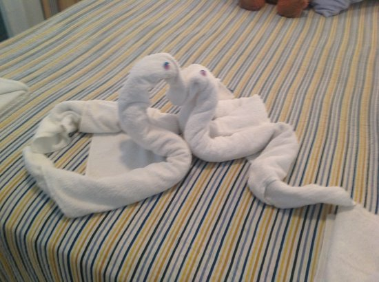 Europark 74 Aparthotel: Towel art