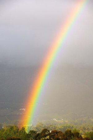 Le Franschhoek Hotel & Spa: August rainbow