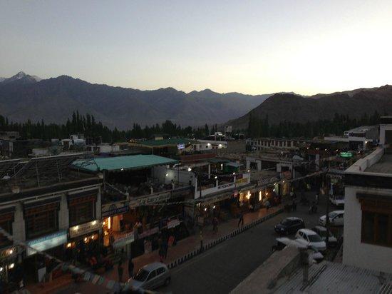 View from Leh View Restaurant - Leh market