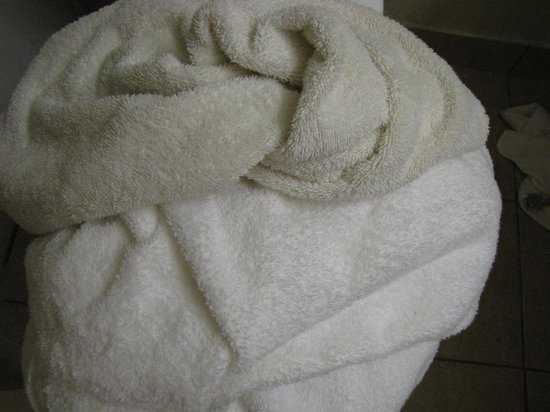 Quality Inn & Suites: towels--some white, some not