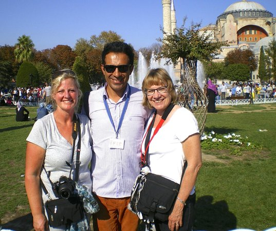 Istanbul Custom Tours-Private Day Tours : Me, Aykut and Marilynn at the end of a fabulous day!
