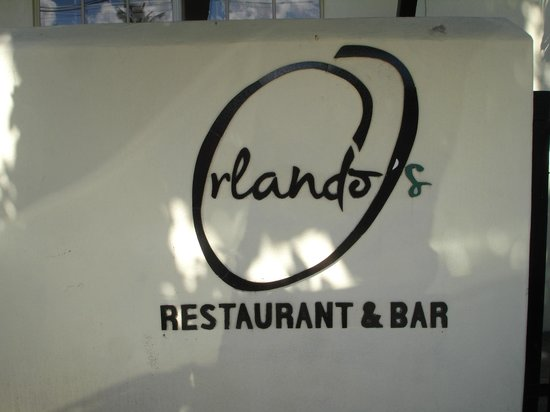 Orlando's Restaurant & Bar : Orlando's sign in front of restaurant