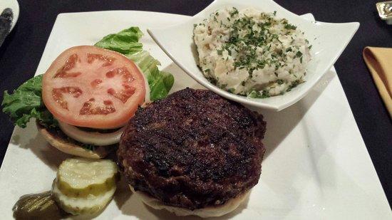 3rd and Main: Chipotle angus burger with potato salad