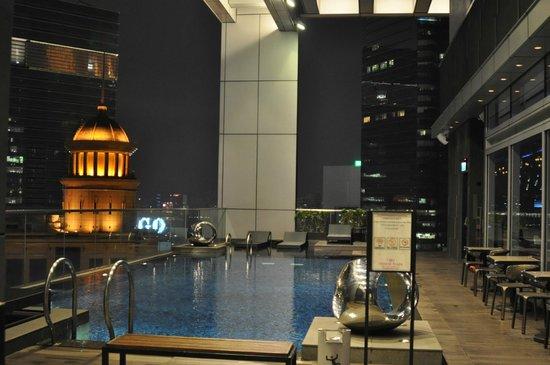 Crowne Plaza Hong Kong Causeway Bay: С бассейна открывается очень красивый вид на город.