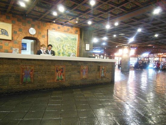 Hotel Commodore Busan: 荘厳な雰囲気のフロント