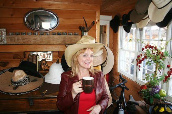 Seventy-four Ranch: Side Room full of cowboy hats and more!!