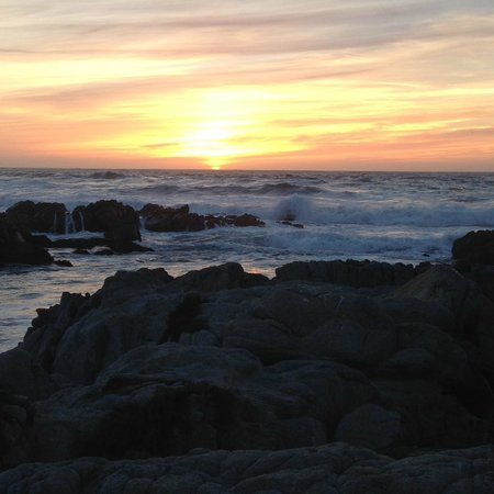 Sunset Inn: sunset at Asilomar State Beach, just around the corner from the inn