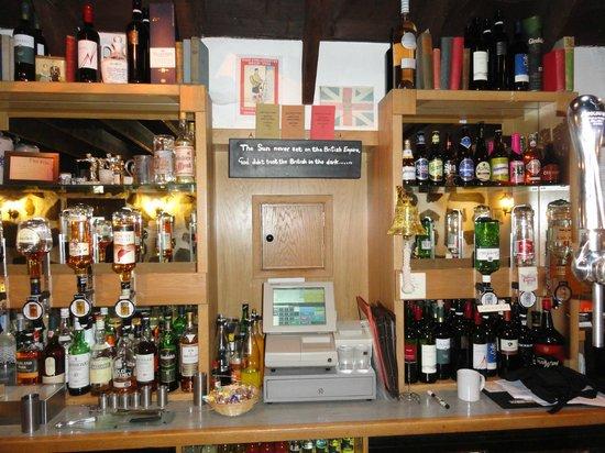 The Byre Inn: The bar area.