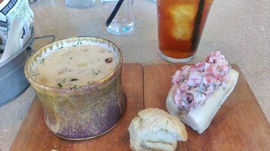 Eventide Oyster Company: Clam chowder, lobster roll in housemade mayo