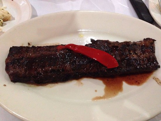 La Fusta Restaurant: Half skirt, enough for 1 person. Juicy and tender.