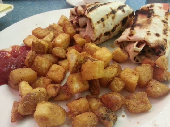 Fran's Restaurant & Bar: My Wrap and Home Fries