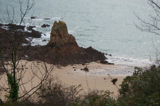 Beauport Beach: looking down from the top