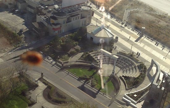 Bally's Atlantic City : Lady bug scaling along 32nd floor window