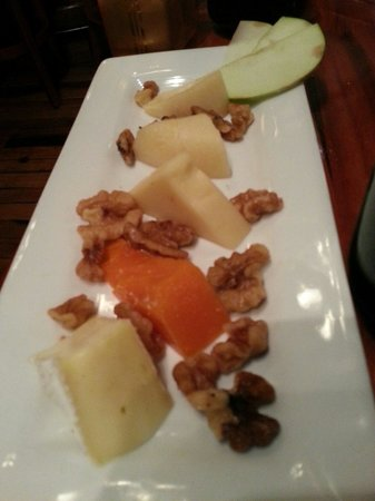 Petite Provence : Cheese platter... could have used a few more Apple slivers. The cheeses were soooo good & just m