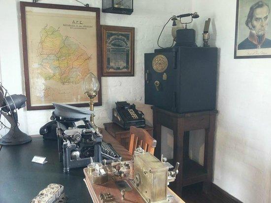 Museo del Ferrocarril: Dentro de la oficina del Jefe de Estación