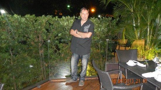 Barcelo Santo Domingo: Terraza del restaurante.