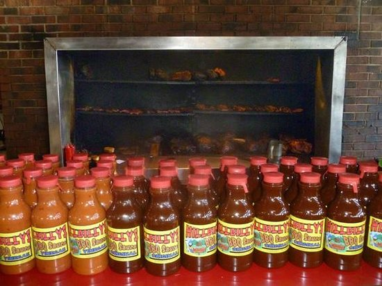 Hillbilly's Barbeque & Steaks: Care for the sauce? Take some home.