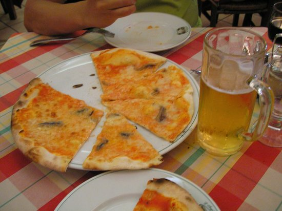 L'Angoletto ai Musei : Delicious pizza at L'Angoletto