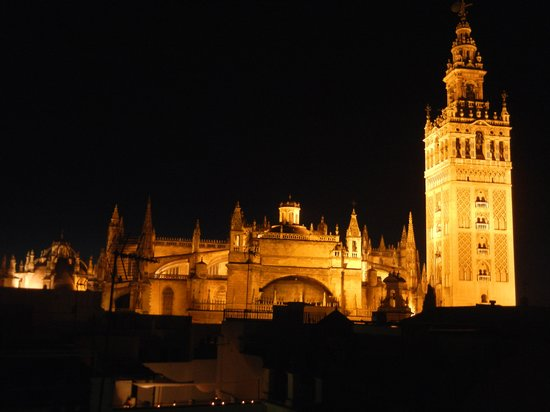 Hotel Casa 1800 Sevilla: Our view from the hotel rooftop deck!