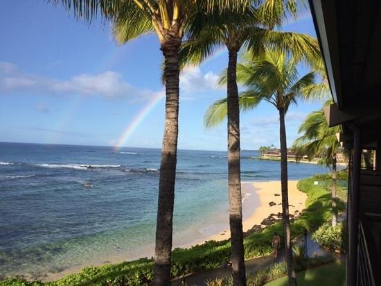 Koa Kea Hotel & Resort: Ocean Front room lanai view (November 2013)