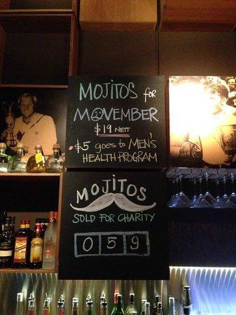 Urban Fairways : mojitos sold for Movember~