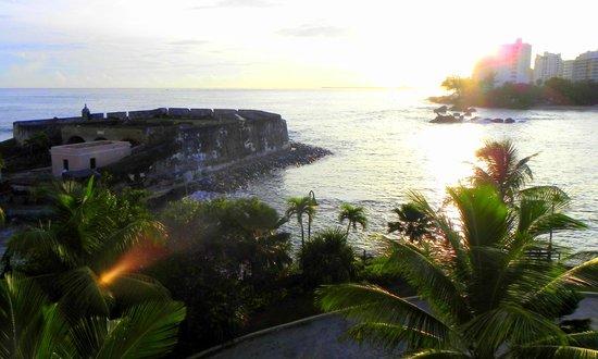 Condado Lagoon Villas at Caribe Hilton: Sunrise from balcony
