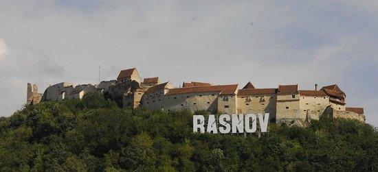 Rasnov Citadel: Widok na szczyt góry zamkowej