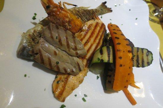 Ristoteca Oniga: Fisch mit Gemüse