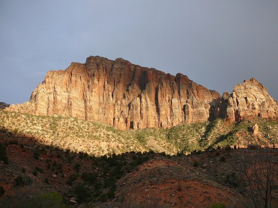 Zion Canyon Bed and Breakfast : View from the Master Suite porch