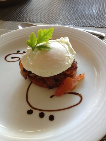 Dunvegan Execu Lodge: Poached egg