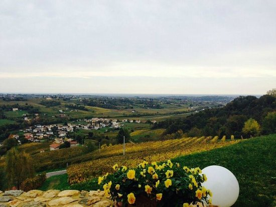 Hotel Villa del Poggio: Tante tante colline in autunno!
