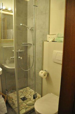 Hotel Trattlerhof: Bad - Zimmer 105 - recht klein, aber sehr schön und renoviert