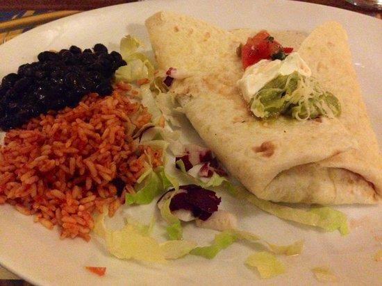 Cactus Juice Cafe' Como: Burrito con chili di carne