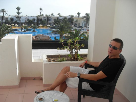 Djerba Holiday Beach : terrasse chambre