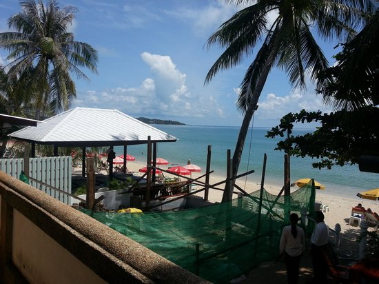 Samui Sense Beach Resort : view above breakfast area