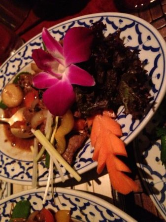 Tabkeaw Thais Specialiteiten Restaurant : Rundvlees met bloem