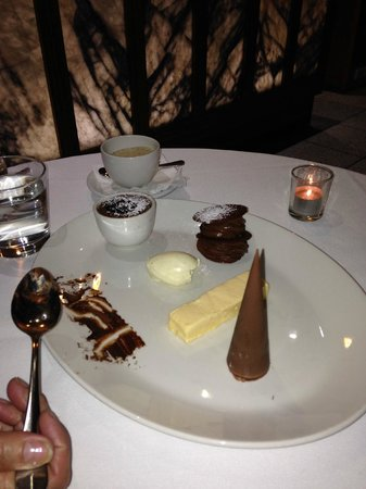 Esca Grill : Chocolate platter for 2