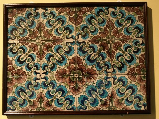 The Potteries Museum and Art Gallery: Persian or William de Morgan tiles