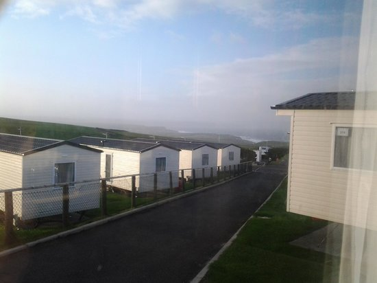 Sandymouth Holiday Park: lovely sea view from our window