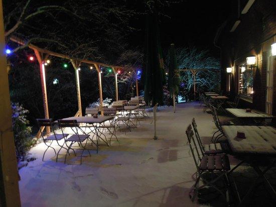 Landhaus Osterholte : Terasse im Winter