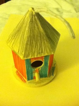 The Westin Beach Resort, Fort Lauderdale: Kids made a bird house on another day. We brought it home w us.
