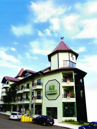 Piratuba, SC: Frente do Hotel