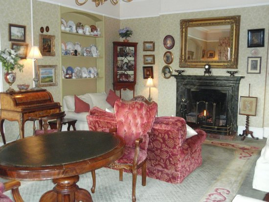 Cashel House Hotel: The fire-place in the livin- room